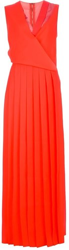 Cedric Charlier pleated maxi dress