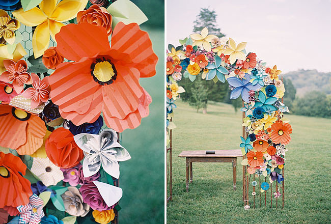 Paper Floral Archway