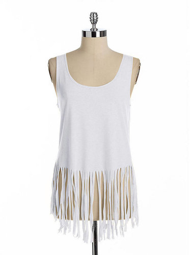 LA MADE Fringed Tank Top