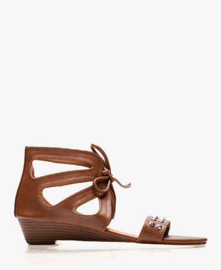 FOREVER 21 Cutout Mini-Wedge Sandals