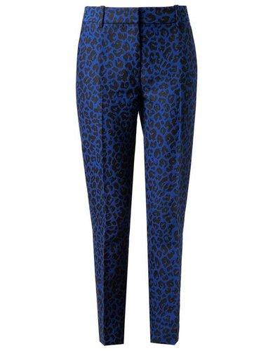 3.1 PHILLIP LIM Leopard Woven Cotton-blend Trousers