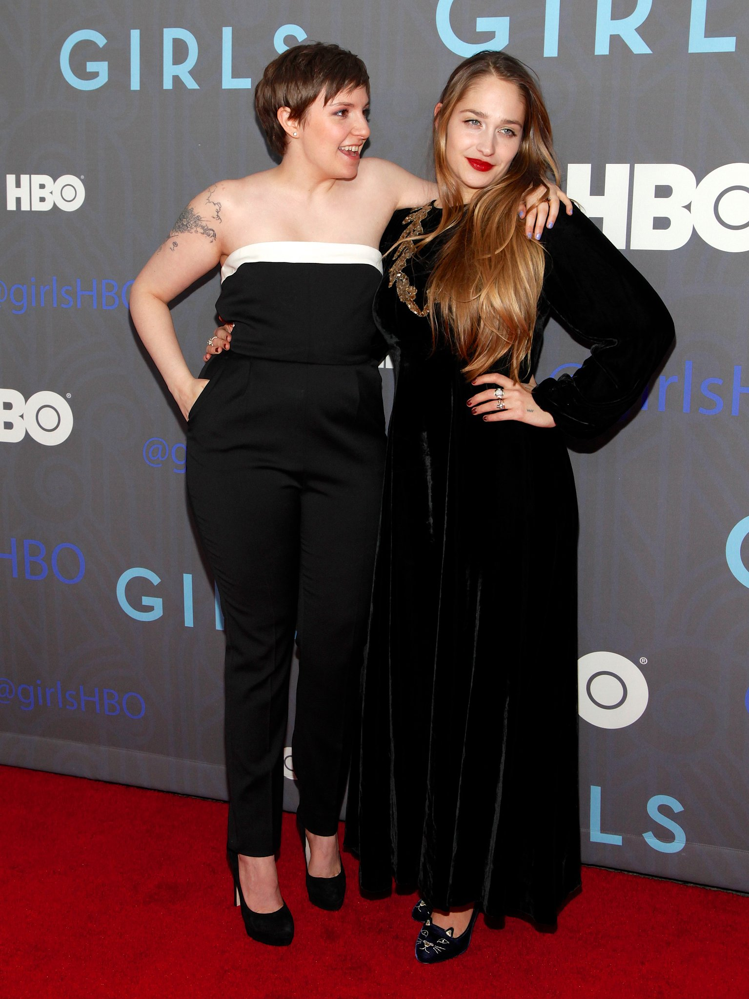 Jemima Kirke And Lena Dunham