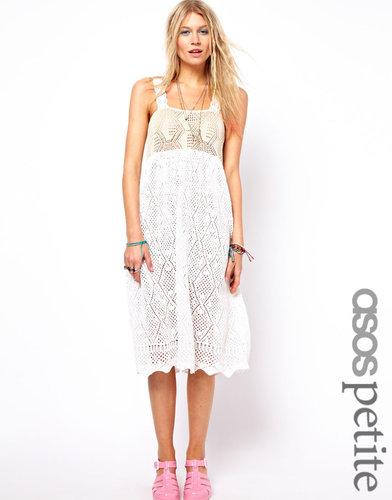 ASOS PETITE Premium Crochet Midi Dress