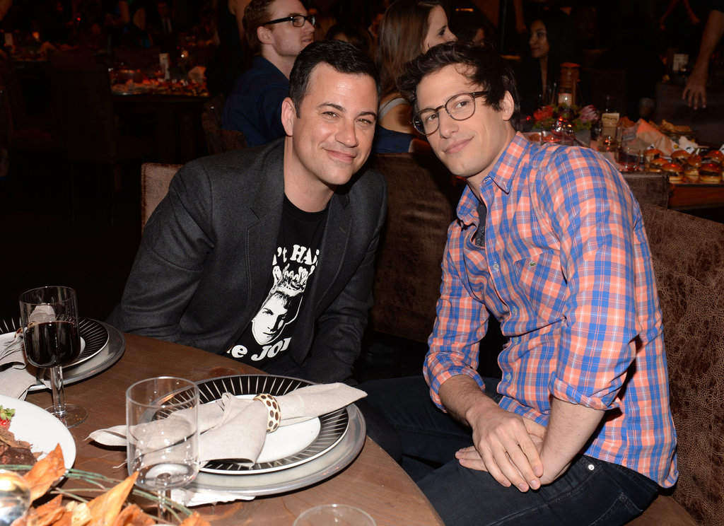Jimmy Kimmel and Andy Samberg posed inside at the Guys Choice Awards.