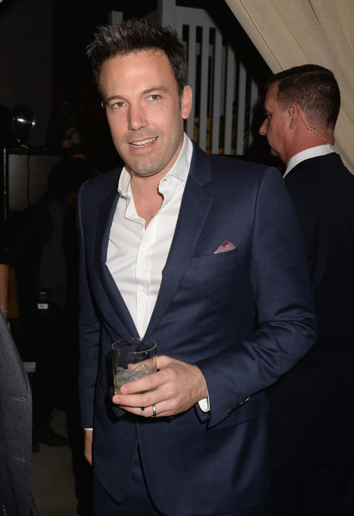 Ben Affleck sipped a cocktail backstage at the Guys Choice Awards.