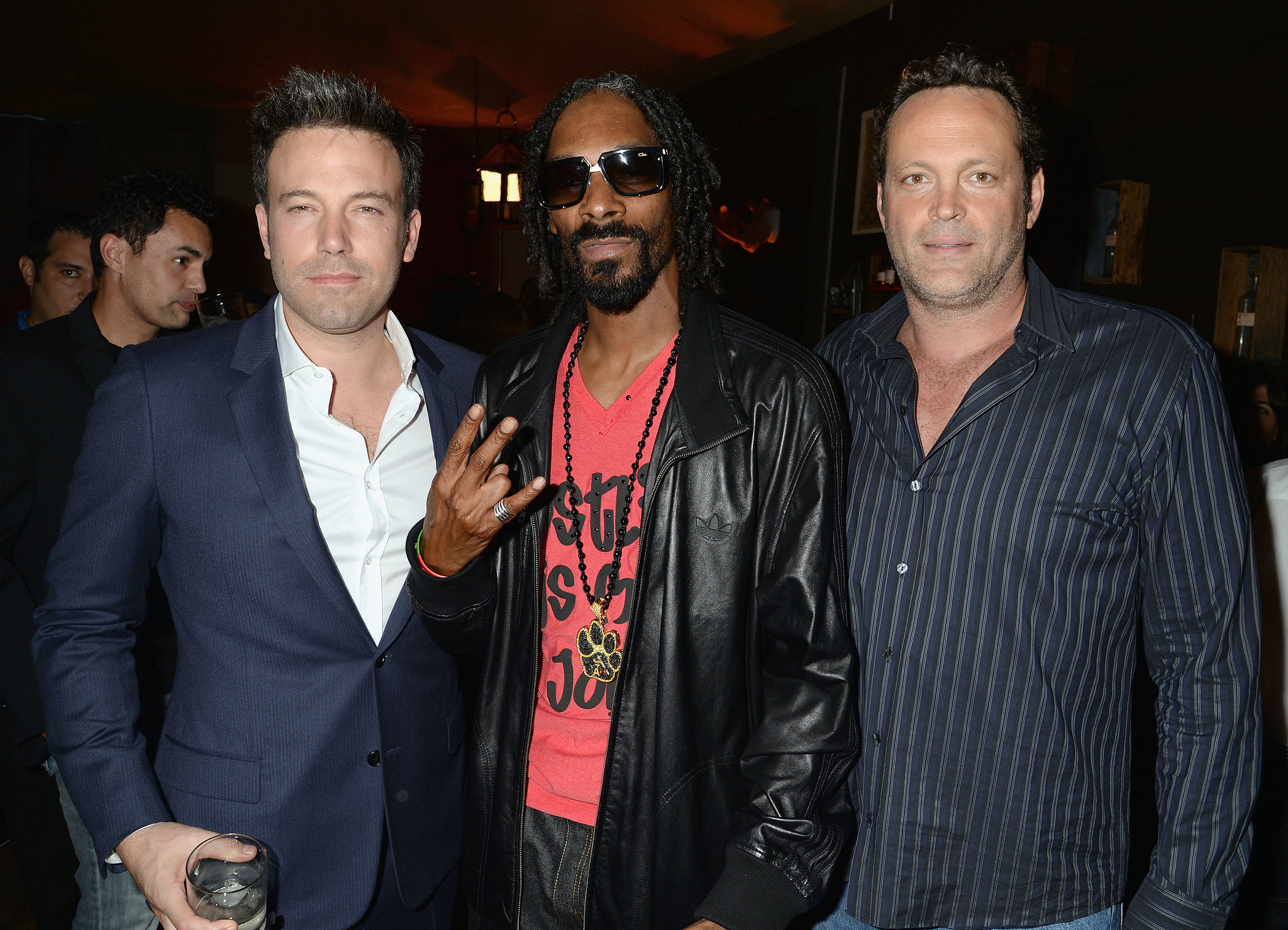 Ben Affleck partied with Snoop Dogg and Vince Vaughn.
