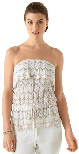 Chevron Tie-Waist Tube Top