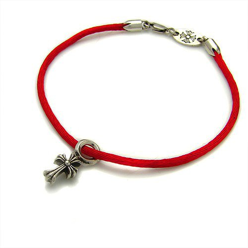 Chrome Hearts Bracelet KZm ACross Red Satin