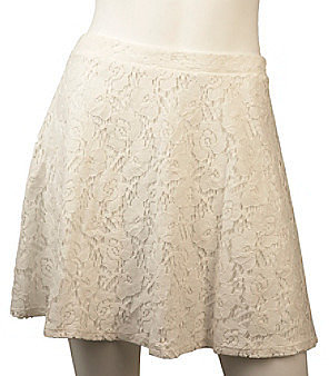 A Byer A. Byer Juniors' All Over Lace Skirt