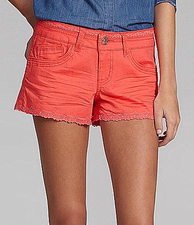 Jolt Lace-Trim Colored Shorts