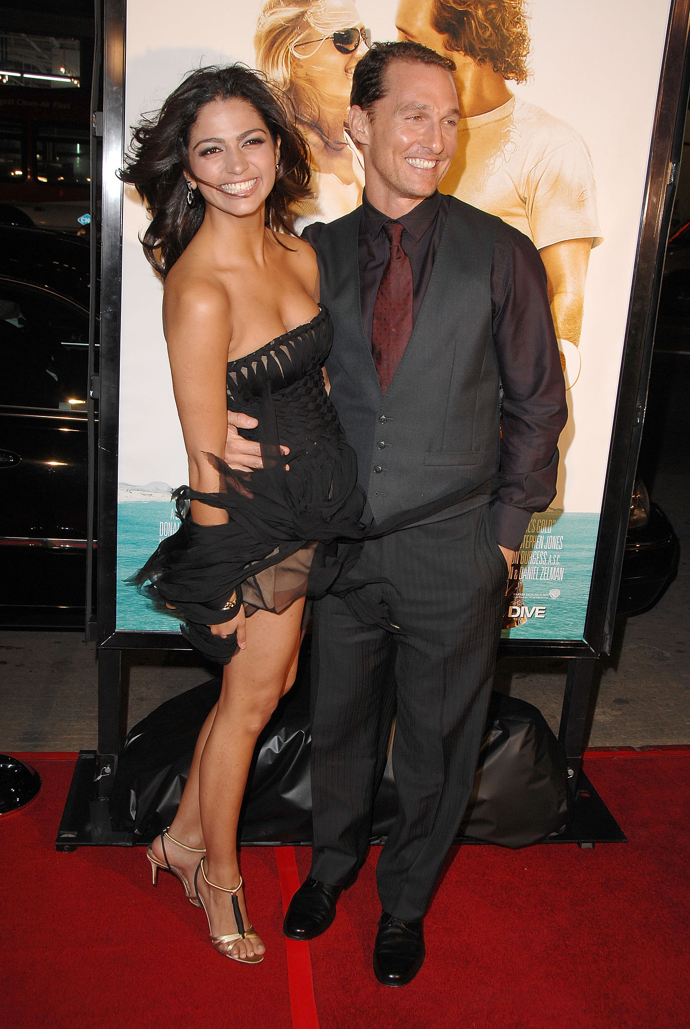Matthew and Camila smiled big at the LA premiere of Fool's Gold in January 2008.