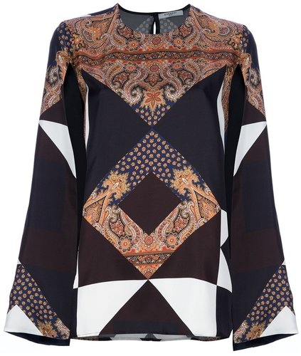 Givenchy geometric paisley print blouse