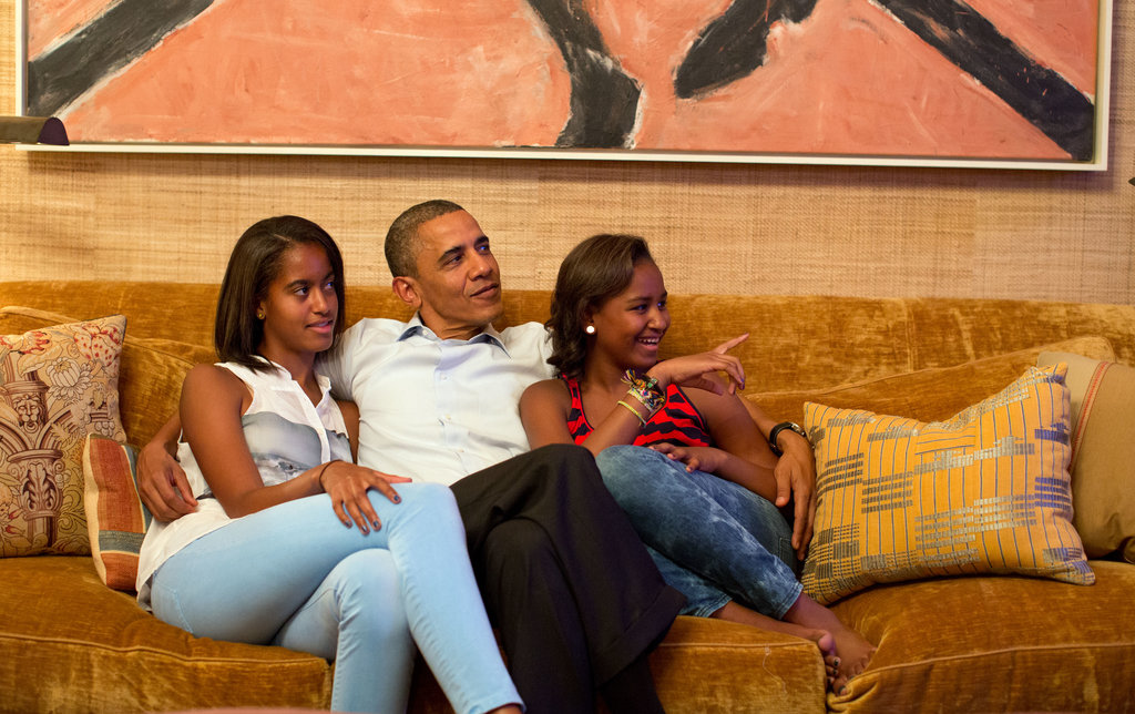 """In Obama's 2012 Father's Day speech, he offered insights into a father's role: """"For many of us, our fathers show us by the example they set the kind of people they want us to become. Whether biological, foster, or adoptive, they teach us through the encouragement they give, the questions they answer, the limits they set, and the strength they show in the face of difficulty and hardship."""""""