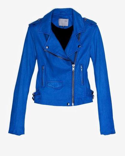 Iro Exclusive Ashville Leather Jacket: Blue