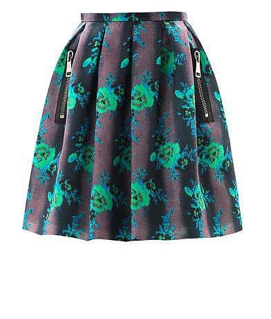 Christopher Kane Floral-print organza princess skirt