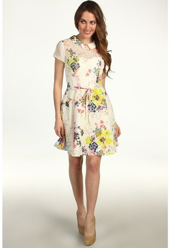 Ted Baker - Gracel Full Skirt Dress (Cream) - Apparel