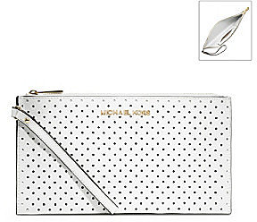 MICHAEL Michael Kors® Large Jet Set Leather Zip Clutch