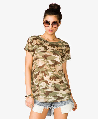 FOREVER 21 Camouflage Tee