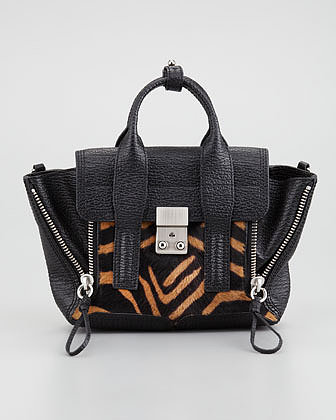 3.1 Phillip Lim Pashli Mini Calf-Hair & Leather Satchel