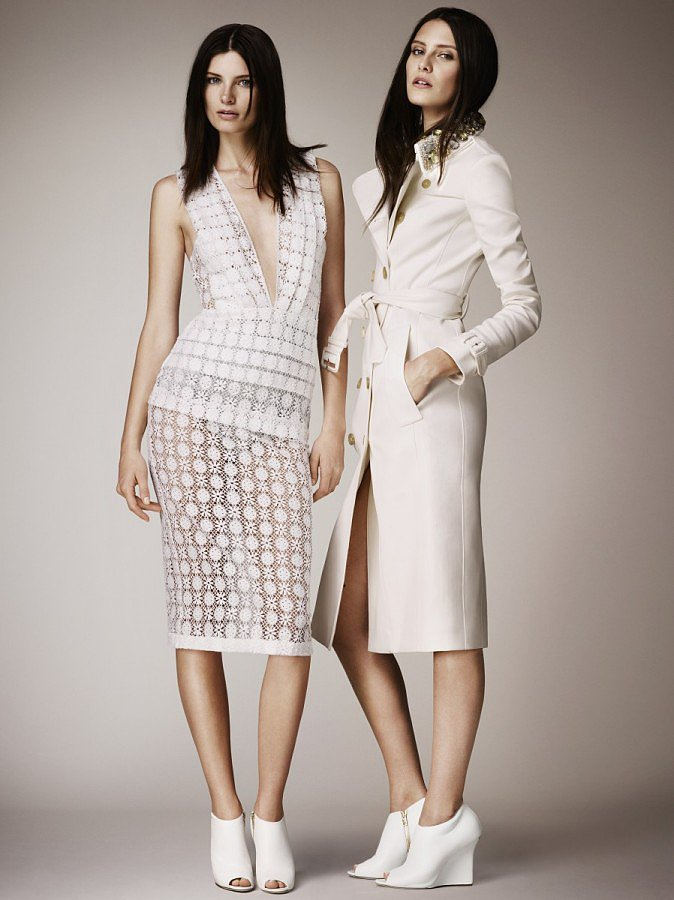 Prim and proper can still smolder, as evidenced by this white, sheer style.  Source: Burberry