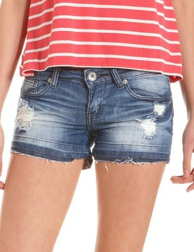 Machine Jeans Destroyed Denim Short