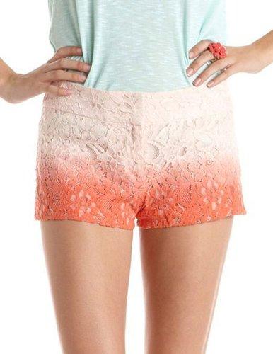 Ombre Floral Lace Short