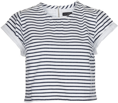 Petite Denim Stripe T-Shirt