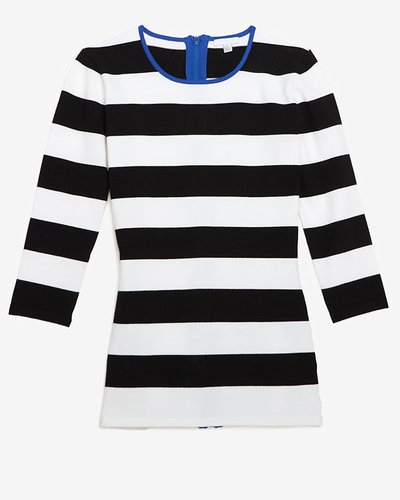 Exclusive For Intermix Contrast Trim Stripe Pattern Knit Top