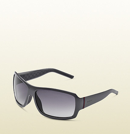 Large Rectangle Frame Sunglasses With Gucci Logo And Web Detail On Temples.