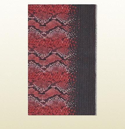 Magenta And Black Animalier Karun Print Stole