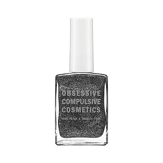 Amp up the your edge factor with Obsessive Compulsive Cosmetics Nail Lacquer in Ripley ($10), a black and silver combo.