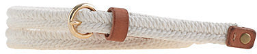 Skinny rope belt