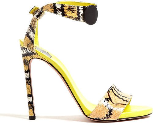 SW1 Onebottoni Zigzag Python High Sandal