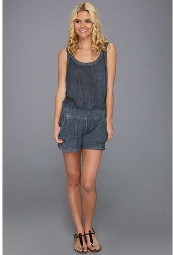 Michael Stars - Jersey Knit Voile Romper (Ship) - Apparel