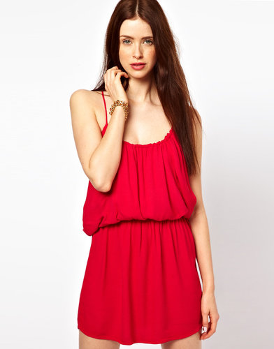 By Zoe Mini Grecian Dress with Open Back