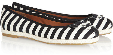 Marc by Marc Jacobs Canvas and leather mouse ballet flats