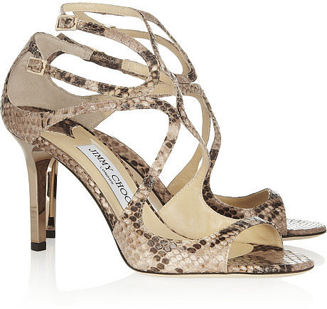 Jimmy Choo Ivette python-effect leather sandals