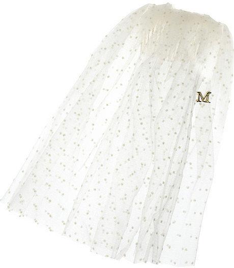 Maison Michel Liane spotted silk-tulle veil