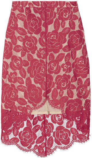 Lover Rosebud lace mini skirt