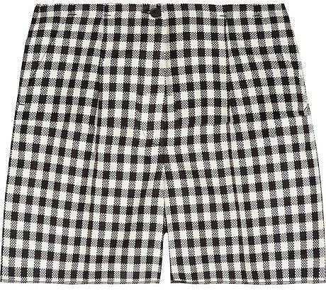 Rochas Checked woven silk shorts