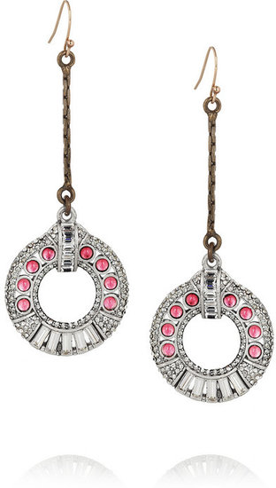 Lulu Frost Silver-plated glass crystal earrings