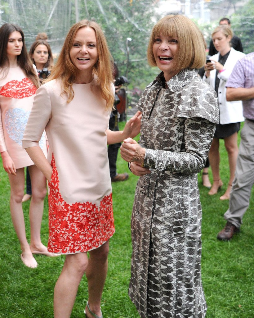 Stella McCartney and Anna Wintour at McCartney's Resort 2014 presentation. Source: Billy Farrell/BFAnyc.com