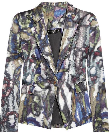Theyskens' Theory Janta printed silk-satin jacket