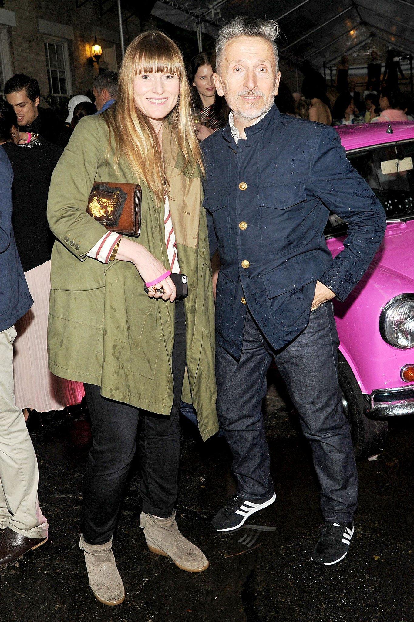 Teen Vogue editor in chief Amy Astley and Simon Doonan at Stella McCartney's Resort 2014 presentation. Source: Billy Farrell/BFAnyc.com
