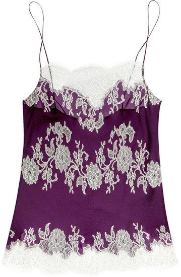Carine Gilson Lace appliqué silk camisole
