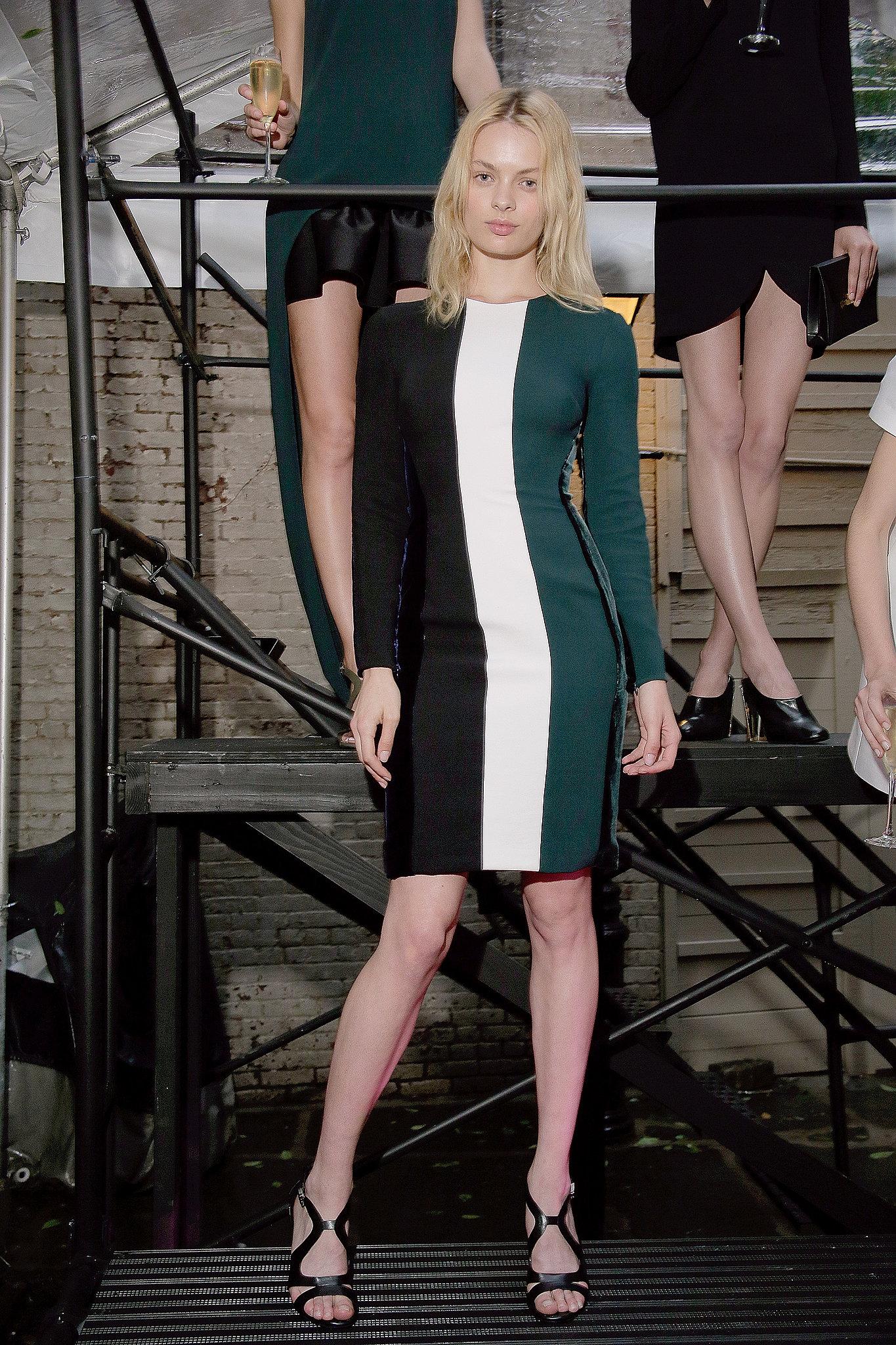 A model at Stella McCartney's Resort 2014 presentation.