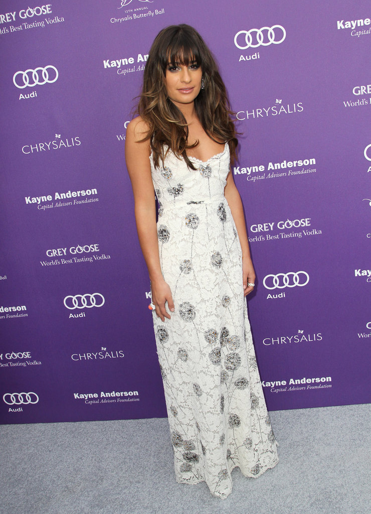 Lea Michele attended the 12th Annual Chrysalis Butterfly Ball in a white printed maxi dress that gave her a fresh, ethereal feel.