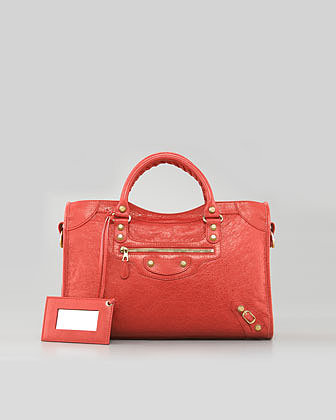 Balenciaga Giant 12 Golden City Bag, Coral