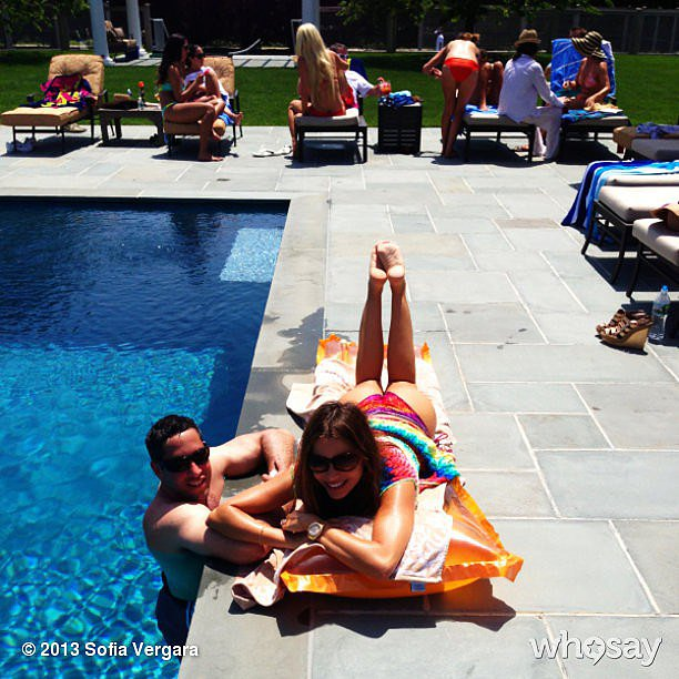 Sofia Vergara lounged by the pool to kick off her Summer festivities.  Source: Instagram user sofiavergara