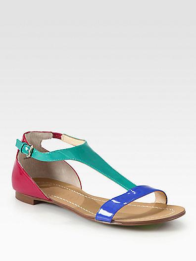 Boutique 9 Piraya Colorblock Patent Leather Sandals